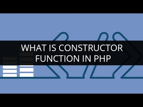 Constructor in PHP with example