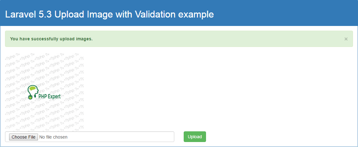 Laravel 5.3 Upload Image with Validation example