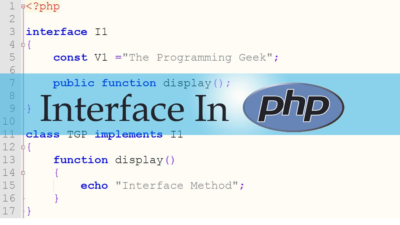 Interface in PHP
