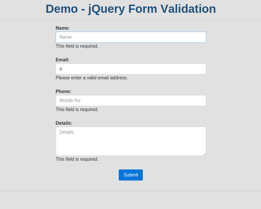 How to validate form in jQuery using jQuery Form Validator