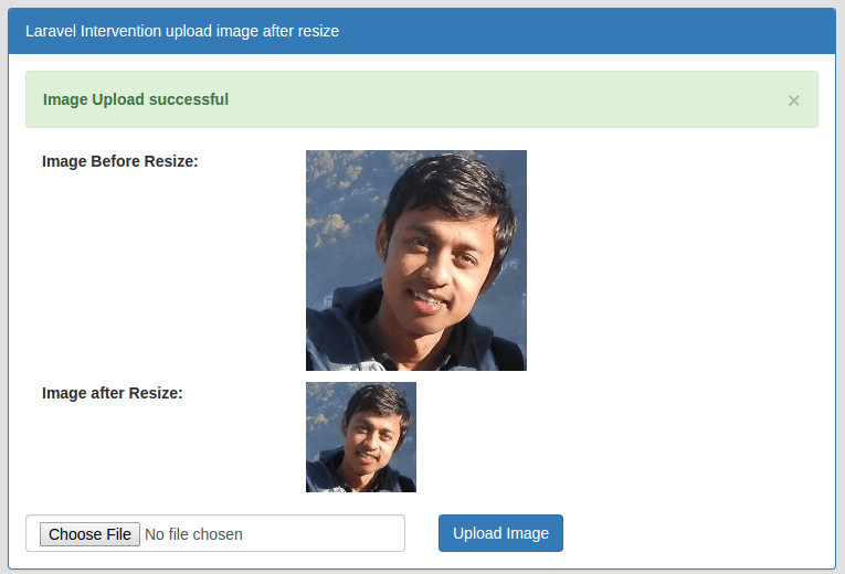 PHP Laravel 5 Intervention image upload and resize tutorial