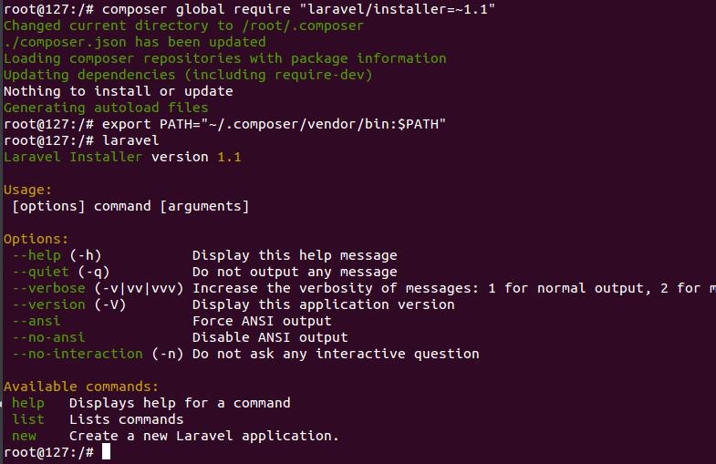 Laravel command not found ubuntu