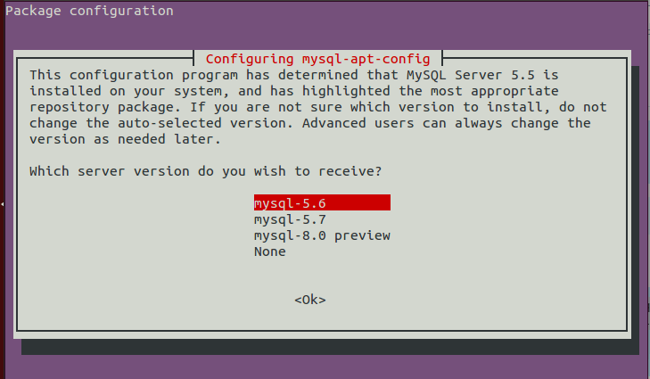 upgrade mysql version