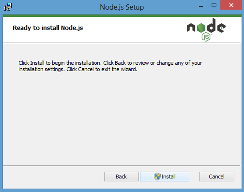 ready to install node.js