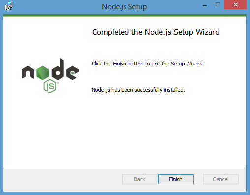complete the Node.js setup wizard