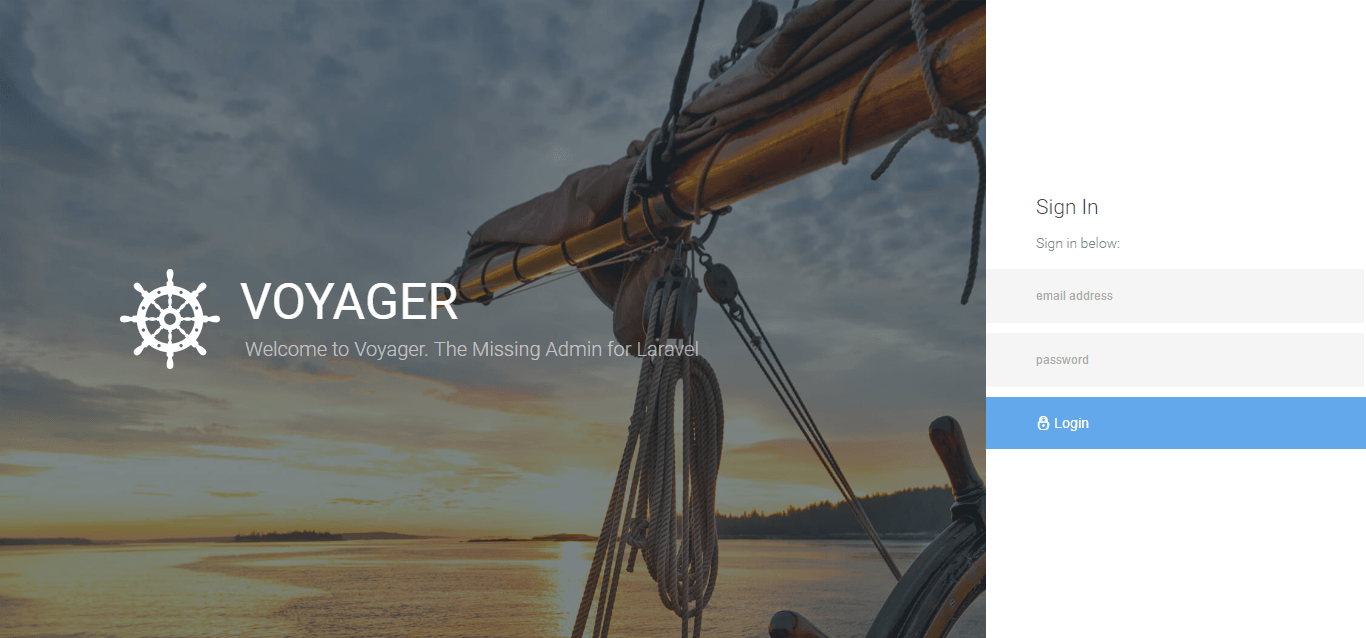Voyager - Create Backend Admin Panel Package for PHP Laravel 5